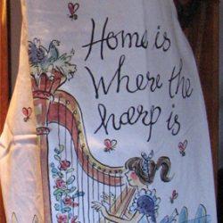 Harp Themed Apron