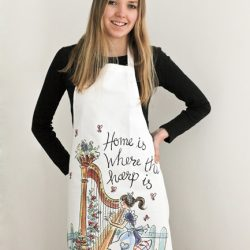Harp themed tea towels & aprons