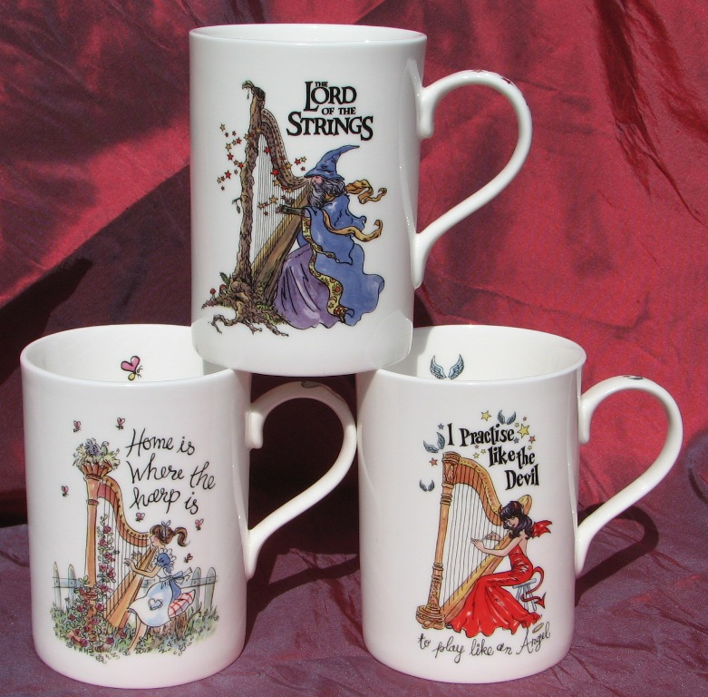 Harp Themed Mugs
