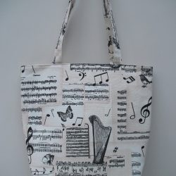 Music Themed Tote Bag - Large